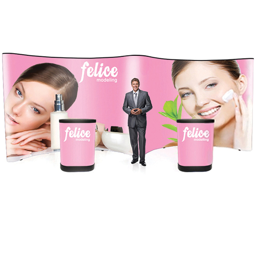 TradeShow PopUp Display Gullwing 20ft Wide Full Main Graphic Included
