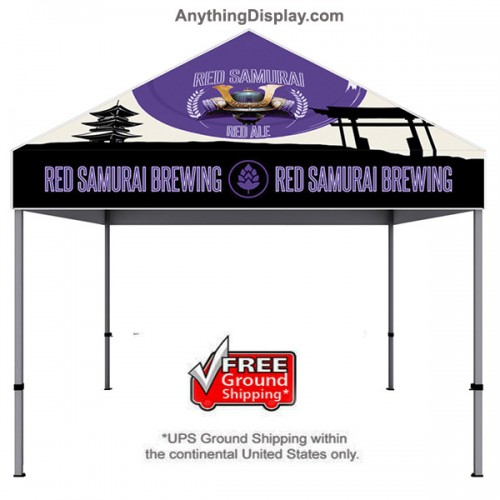 One Choice Canopy Tent 10ft x 10ft  Aluminum - Dye Sub Graphic Package