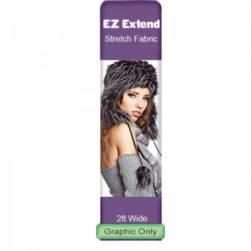 Custom Printed Banner for EZ Tube Extend Display 2' Large