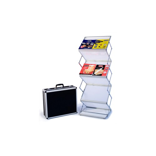 Literature Rack Stand EZ Frost Double Wide