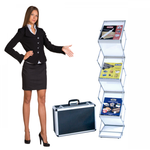 EZ Frost Literature Rack Holds Trade Show Handouts and Catalogs