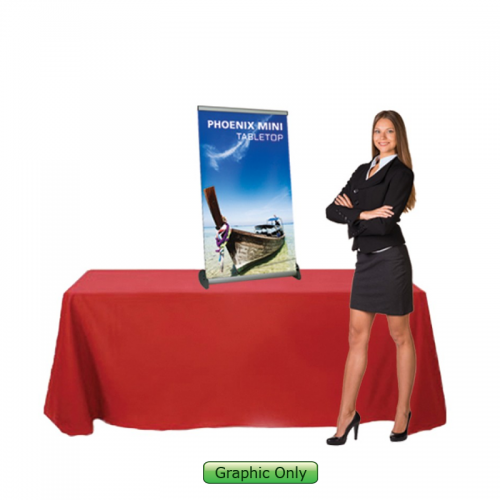 Custom Printed Banner for Phoenix Mini Retractable Table Top Stand