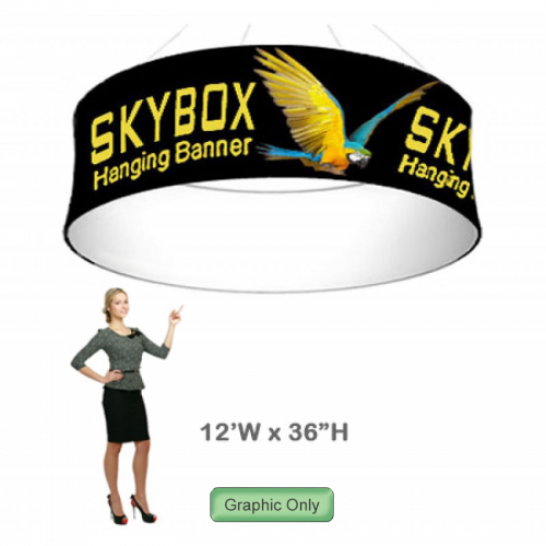 Graphic for 36h x 12ft wide Circle Hanging Banner