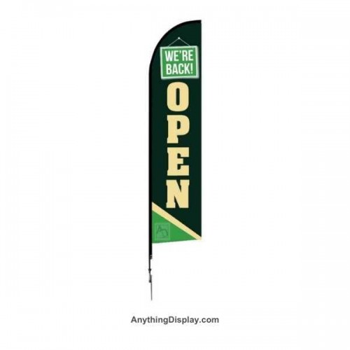 One Choice Feather Flag 14ft - Pre-Designed -  We are Open 1