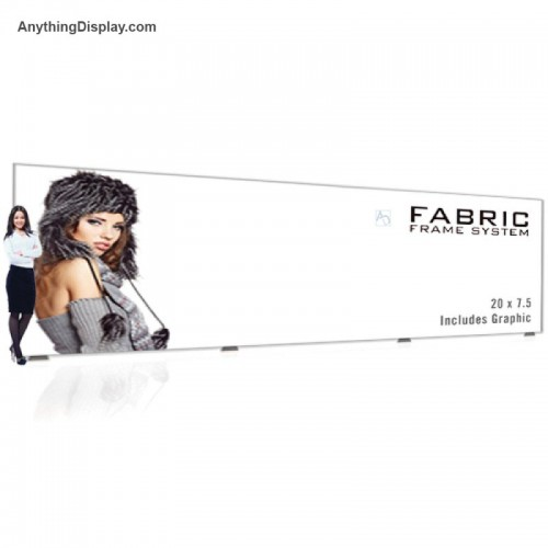 Fabric Graphic Frame TradeShow Backwall Aspen Display Stand 20ft Wide
