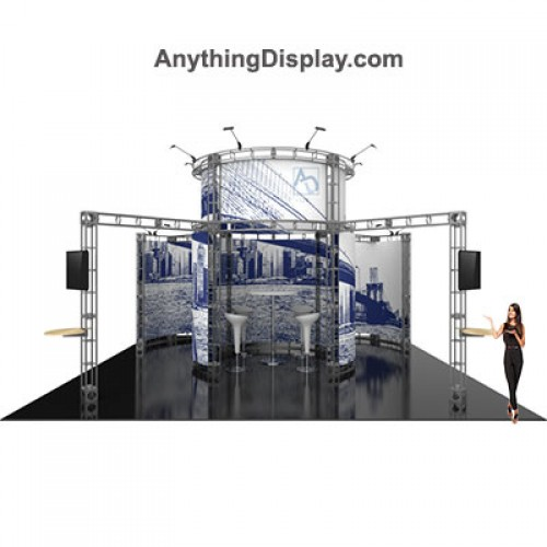 Atlas Truss Frame Booth Display 20ft x 20ft Island Truss System