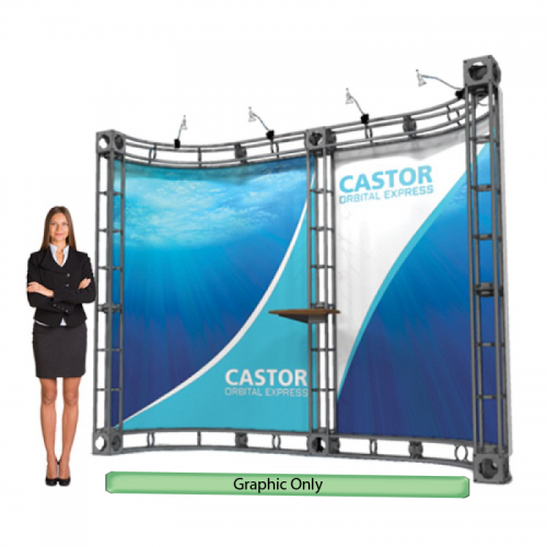 Custom Printed Graphic for Castor Truss System 10'