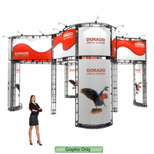 Custom Printed Graphic for Dorado Truss Booth 20ft x 20ft