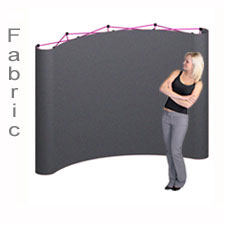 Trade Show Popup Display Plush Fabric Pop Up Display is a Variety of Fabric Colors