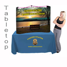 Trade Show Popup Display Table Top Pop Up Display Booths with Full Color Printed Graphic